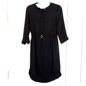 Simple black shirt dress H&M size M